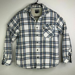 Billabong Fleece SherpaLine Flannel Jacket Shirt M